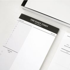 Daily Schedule Note Pad