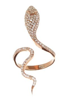 Not big on jewelry but love this pave snake ring