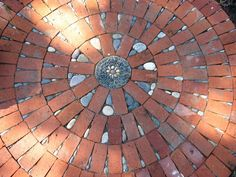 permeable brick and stone mosaic