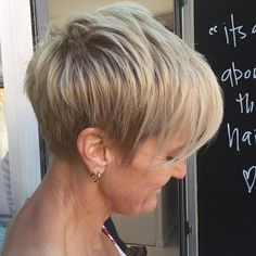 Blonde Layered Pixie With Ash Blonde Highlights