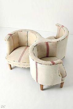 Antique conversation chair