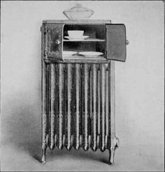 A radiator with a warming oven