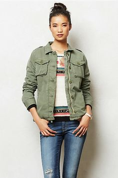 obsessed with everything military ✯ anthropologie.com >> Dylan Army Jacket #anthropologie