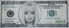 barbie hundred dollar bill Barbie Birthday, Barbie Party, Barbie Makeup, The Cramps, Play Money, Barbie World, Barbie Life, Barbie House, Happy Love