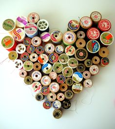 for all of my old wooden spools of empty thread....for a decoration in the craft room.