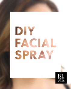 DIY Facial Spray with Aloe Vera. Keep it at your desk for an instant pick-me-up.