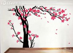 Sunflower Stencils for Painting Walls | ... about Cute Monkey Cherry Blossom Tree Wall decals Removable