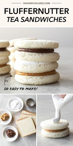 Easy Fluffernutter Tea Sandwiches – Famous Last Words Tea Party Sandwiches, Finger Sandwiches, Healthy Sandwiches, Afternoon Tea Recipes, Afternoon Tea Parties, Wine Wednesday, Hp Sauce, Tea Party Menu, Party Drinks