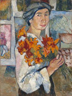 Natalia Goncharova · Autoritratto · 1907 · Ubicazione ignota