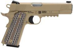 """Colt O1070M45 Marine M45-A1 SA 45ACP 5"""" 7+1 Novak Cerakote Desert ..."""