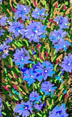 Blu blossoms 2020 Digital creation Blossoms, Still Life, Digital, Floral, Artwork, Plants, Flowers, Work Of Art, Auguste Rodin Artwork