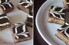 carrés gourmands aux deux chocolats : Pâtisserie marocaine - Blog cuisine marocaine / orientale Ma Fleur d'Oranger / Cuisine du monde