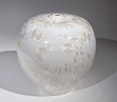 Bill Boyd - Crystalline Glaze Pearl & Gold Bulb - Ceramic with Crystalline Glaze - x Pottery Ideas, Fine Art Gallery, Gourds, Urn, Art Education, Glaze, Recipies, Pearl, Tutorials
