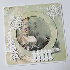 KvetaP / Vianočná hrkálková pohľadnica Scrapbooks, Christmas Cards, Frame, Handmade, Crafts, Decor, Christmas E Cards, Picture Frame, Hand Made