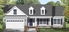 This compact three bedroom ranch offers a vaulted living/dining room that share  a view of the fireplace and rear deck. The practical kitchen arrangement has  easy access to the garage and basement. Bedroom 2 can easily convert to a den  or office. This plan is documented with one alternative elevation and a  basement foundation.
