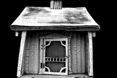 Bird House. Miniature. Utah. Black and white. High Contrast. Photo by Harvey Brand Imagery