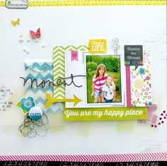 Beautiful layout - use of papers and stamps and embellishments