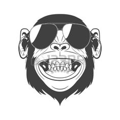 Chimpanzee, Orangutan, How To Draw Glasses, Drawing Glasses, Monkey 2, Animal Categories, Planet Of The Apes, Tee Design, High Quality Images
