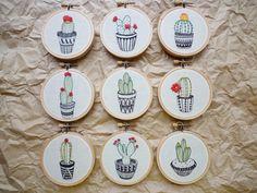 Modern Embroidery 'Cactus 10' 3 inch Hoop by CheeseBeforeBedtime