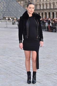 Adele Exarchopoulos is seen arriving at Louis Vuitton fashion show during the Paris Fashion Week Womenswear Fall/Winter 2017/2018 on March 7 2017 in...