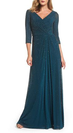 online shopping for La Femme Beaded Twist Knot Waist Gown from top store. See new offer for La Femme Beaded Twist Knot Waist Gown Mob Dresses, Women's Fashion Dresses, Dresses With Sleeves, Bride Dresses, Lace Sleeves, Bridesmaid Dresses, Gowns Online, Formal Evening Dresses, Evening Gowns