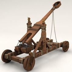 model: This is a model of an Ancient Norman catapult Cinema Native format & many exports included. This catapult can be considered the forerunner of modern mortars. Popsicle Stick Crafts, Craft Stick Crafts, Craft Sticks, Hobby World, Medieval Weapons, Girl Scout Crafts, Engin, Crossbow, Wood Toys