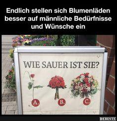 Endlich stellen sich Blumenläden besser.. | Lustige Bilder, Sprüche, Witze, echt lustig