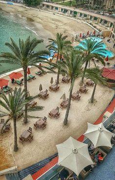Alexandria Egypt. Montaza beach.