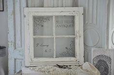 Vintage Spiegel - Reizendes altes Sprossenfenster zum Öffnen - ein Designerstück von Elflora bei DaWanda