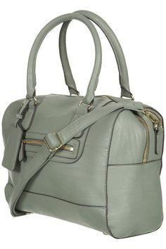Edge Paint Bowling Bag- my fall handbag. Fall Handbags, Leather Handbags, Leather Bag, Sacs Design, Green Purse, Bowling Bags, Topshop Outfit, Purse Wallet, Purses And Bags