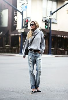 Casual - Big sweaters & boyfriend jeans