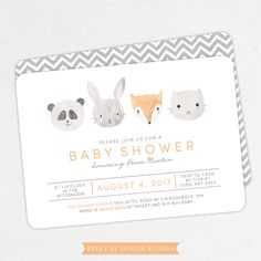 Hey, I found this really awesome Etsy listing at https://www.etsy.com/listing/400499729/woodlands-baby-shower-invitation-neutral