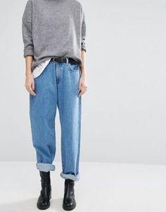 Dr. Denim – Muse – Gerade, weit geschnittene Jeans mit tiefem Bund im Stil der 90er