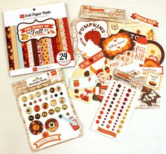 Today's Peachy Cheap deal is an Echo Park Fall Kit. This kit has 5 items in it, a 6×6 paper pad with 24 double sided papers, Brads, Dots and Ephemera/die-cuts. Shipping is $3.99 U.S. and $4.99 Canada. ONLY $10.99,  regularly $31...get it today!
