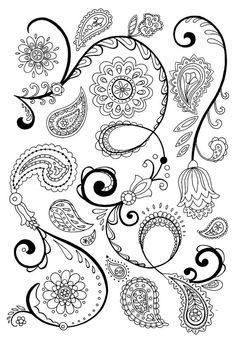 Bohemian Paisley and Flower pattern for hipsters by TheBossofMe