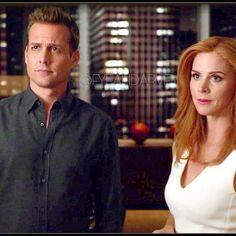 Harvey and Donna Serie Suits, Suits Series, Harvey Specter Suits, Suits Harvey, Suits Show, Suits Tv Shows, Gabriel Macht, Harvey Donna, Donna Suits