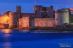 King John's Castle at night - Limerick, Ireland - MetroScenes.com