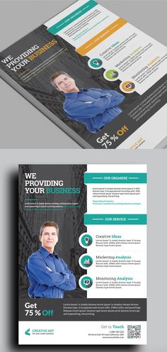 Creative and minimalist multipurpose business flyer template psd informational flyer template 20 business flyer templates with creative layout designs wajeb