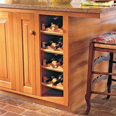 diy side of cabinet wine rack decoist for the home pinterest living room bar wine rack and bar areas