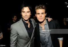 Actors Ian Somerhalder and Paul Wesley attend the 2012 People's Choice Awards at Nokia Theatre L.A. Live on January 11, 2012 in Los Angeles, California.