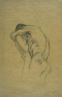 klimt zeichnungen When we draw, do we create, as God created us? (Drawing by Gustav Klimt) Gustav Klimt, Klimt Art, Life Drawing, Drawing Sketches, Pencil Drawings, Painting & Drawing, Art Drawings, Couple Drawings, Franz Josef I
