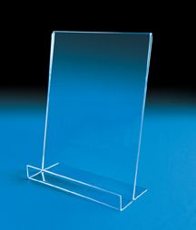 """""""Take One"""" Front Pocket Frame  This sign holder is available for three card/flyer sizes and is ideal for trade shows, conferences and sale flyers.  The front lip acts as a pocket to hold either 6×4″ cards, 5½ x 7″ cards or 11 x 8½"""" flyers.  Avoid being completely out of cards or flyers by having one in the sign area behind the front stock. Space in front is 1½"""" deep."""