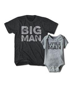 Look what I found on #zulily! Heather Gray 'Big Man' Tee & 'Little Man' Bodysuit - Men & Infant #zulilyfinds