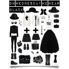 """On Wednesday We Wear Black"" by pupae-thequeen on Polyvore"