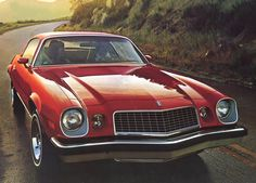 1974 Chevrolet Camaro Myfirst car with black carpet and white seats  Loved that car!