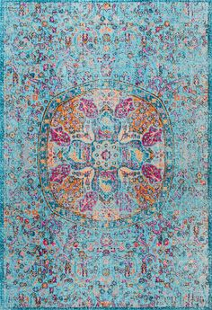 Make a statement with this Rugs USA's Seasoned SW09 Floral Encompass Mandala Rug!
