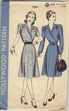 Vintage Hollywood dress pattern