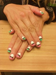 adorable bow nails designed at @SimpleSolitude in Vancouver, WA