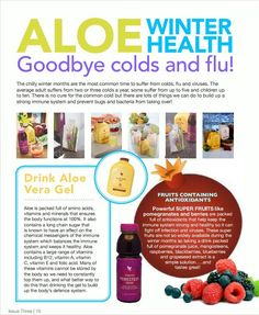 Let Forever Living give you a boost this winter with Aloe Vera Gel