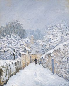 snow at louveciennes by alfred sisley 1878